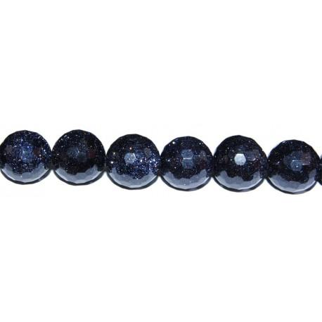 Aventurina Azul bola facetada 6 mm
