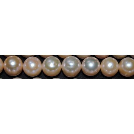 Perla rosada 11 mm.(Alta calidad +)