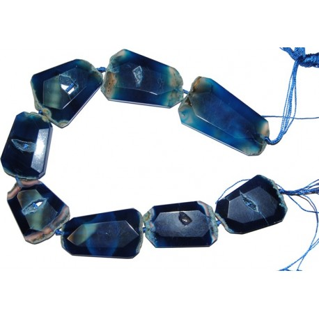 Ágata azul trapecio 50*40 mm