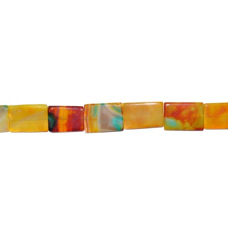 Ágata Amarilla-Naranja rectángulo 25*35 mm.