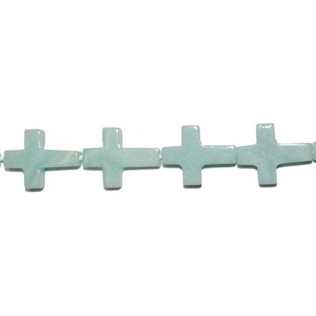 Amazonita cruz 12*16 mm.