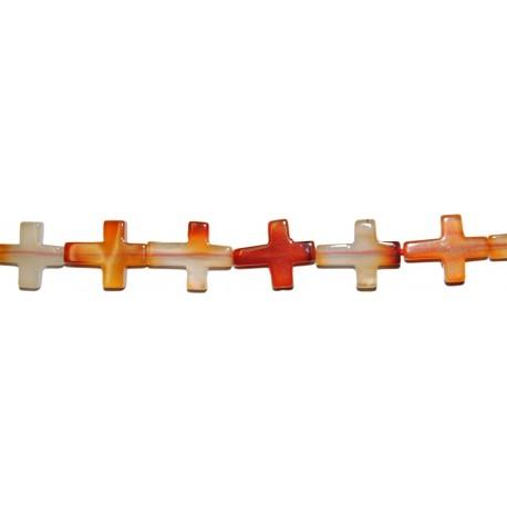 Cornalina cruz 16*20 mm.