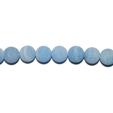 Ágata envejecida azul bola 10 mm