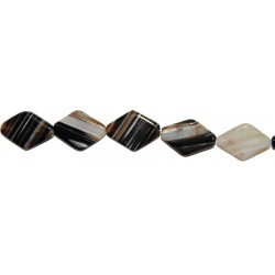 Ágata Negra Veteada rombo 25*35 mm.