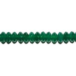 Ágata Verde rondel facetado 10 mm.