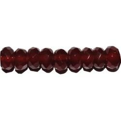 Ágata roja rondel facetado 4*6 mm.