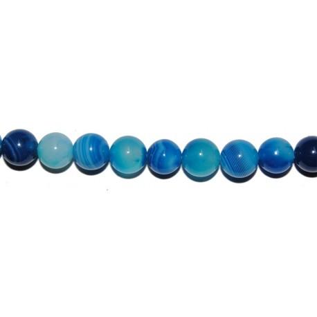 Ágata azul veteada bola 6 mm.