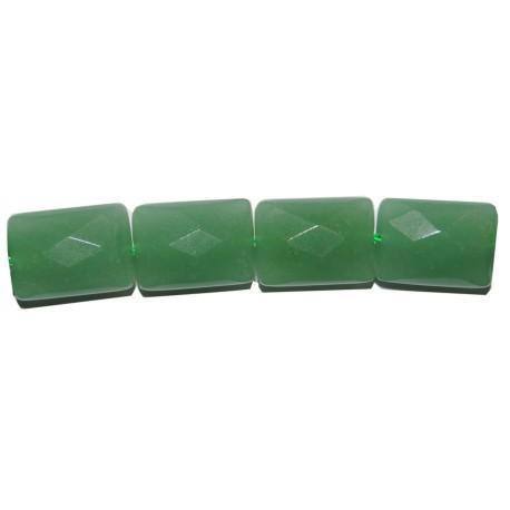 Avent. verde rectángulo cojín 13*18 mm.