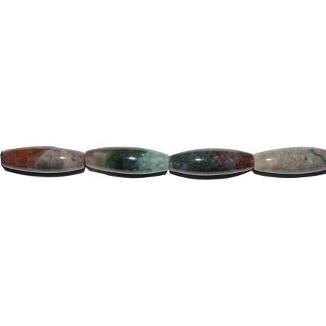 Ágata de la india oliva 10*30 mm.