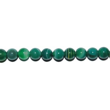 Ágata Verde veteada bola 6 mm.