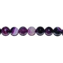 Ágata violeta veteada bola facetada 12 mm.