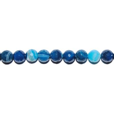 Ágata azul veteada bola facetada 8 mm.
