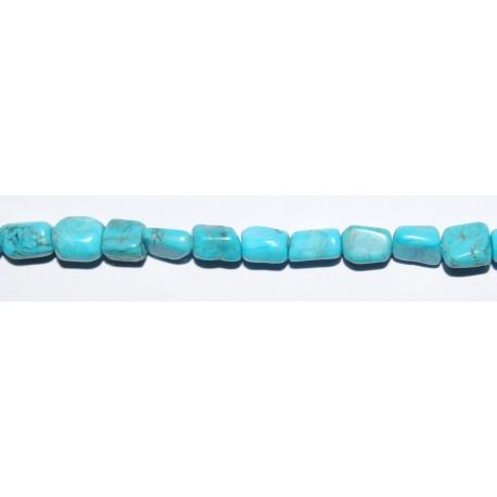 Turquesa Natural tubo irregular 8*4 mm.