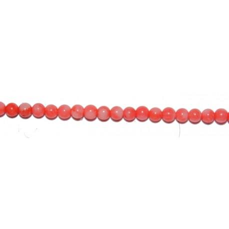 Coral Bambú Rosa bola 8 mm.