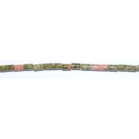 Jaspe Verde tubo 3*5 mm.