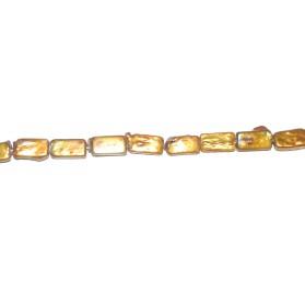 Perla Dorada rectángulo 8*16 mm