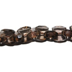 Cuarzo ahumado cadena 6*12 mm.