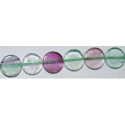 Fluorita disco plano 12 mm.