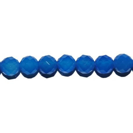 Ágata azul bola facetada 4 mm.