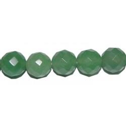Avent. verde bola facetada 12 mm.