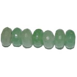 Avent. verde rondel facetado 4*6 mm.