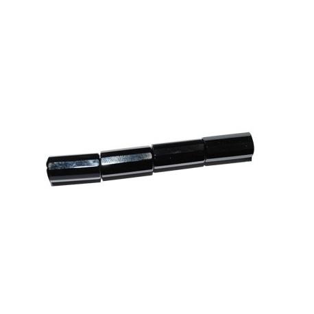 Ágata negra tubo con caras
