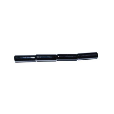 Ágata negra tubo 4*14 mm.