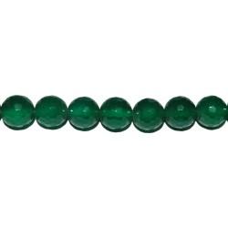 Ágata verde bola facetada 2 mm.