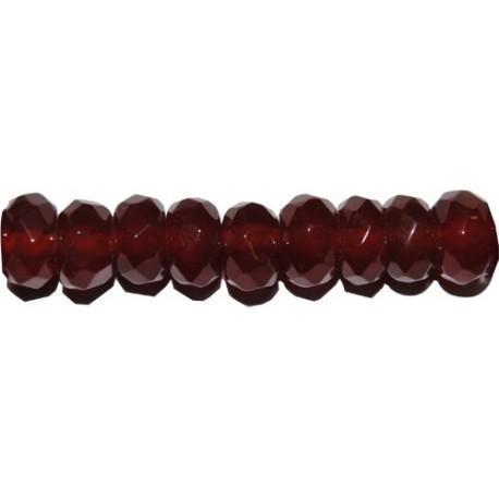 Ágata roja rondel facetado 5*8 mm.