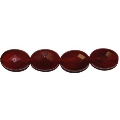 Ágata roja disco facetado 12 mm.