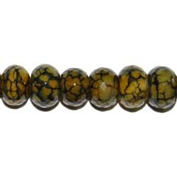 Ágata Nar. Cr. rondel fac. 14 mm.