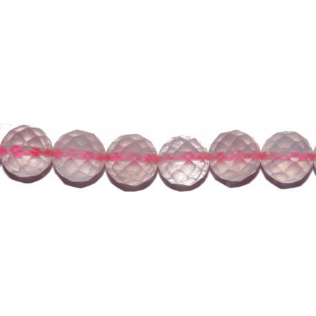 Cuarzo rosa bola facetada 14 mm.
