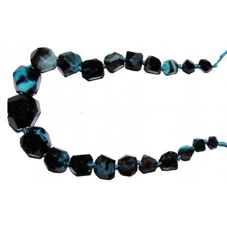 Ág. multic. nugget facet. azul degradado (10 a 32 mm)
