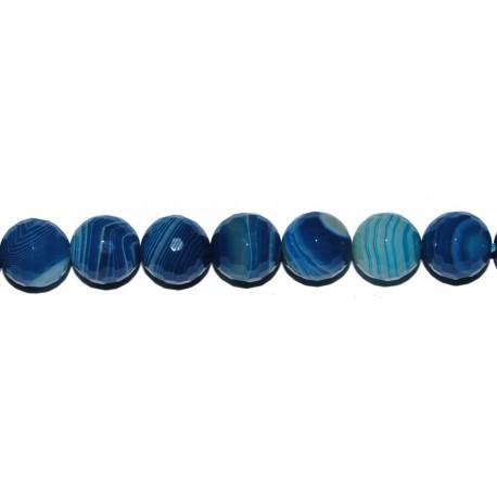 Ágata azul-blanca bola facetada 12 mm.