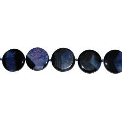 Ágata azul-negra disco 36 mm.