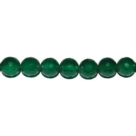 Ágata verde bola facetada 4 mm.